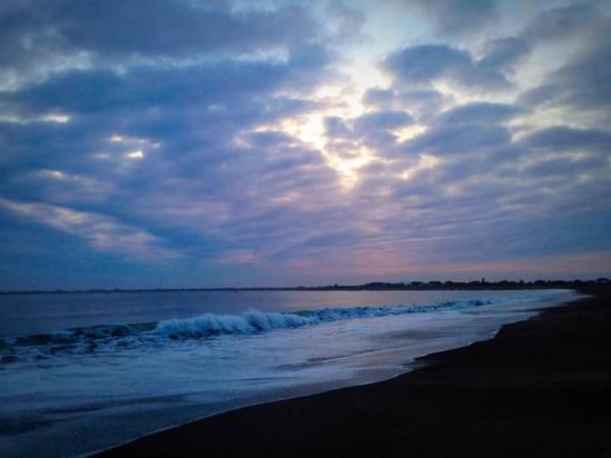 Ocean Shores, WA: Damon Point Beach at sunset