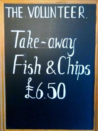 The Volunteer Inn: Take away Fish & Chips