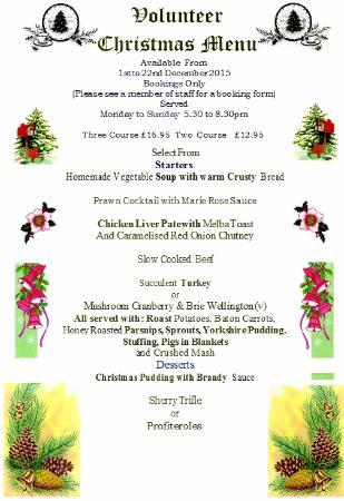 The Volunteer Inn: Our Christmas menu