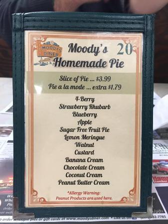 Waldoboro, ME: Desert menu.