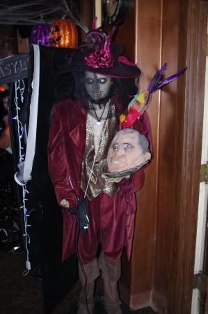 Jerome, AZ: 'Head' server -- it was Halloween!!