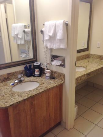 BEST WESTERN Crossroads Inn: sink area