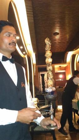 Ghazal: Talwar Kebabs....literally served on flaming Talwar ( Sword ! )