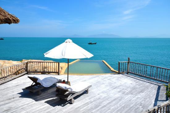 Six Senses Ninh Van Bay: Rock villa deck & pool