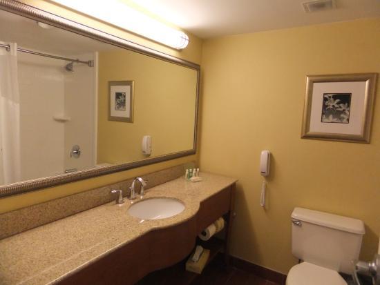 Holiday Inn Bangor-Odlin Road : Spacious and clean bathroom.