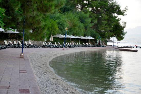 Letoonia Club & Hotel: beach area
