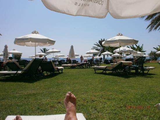 Constantinou Bros Athena Royal Beach Hotel: Lounging in the sun