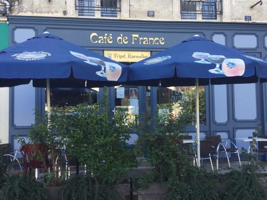 Cafe de France : Nouvelle façade du France