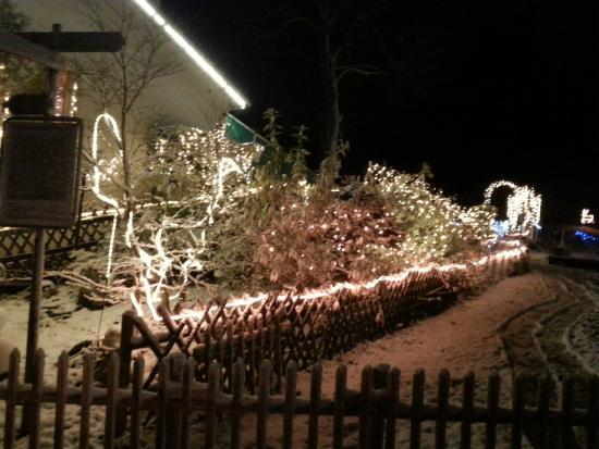 Esterno illuminazione natalizie picture of restaurant