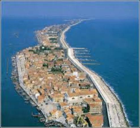 Pellestrina, Italie : Pellstrina dall'alto