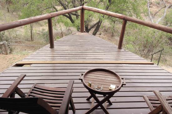 Camp Shonga: terrasse