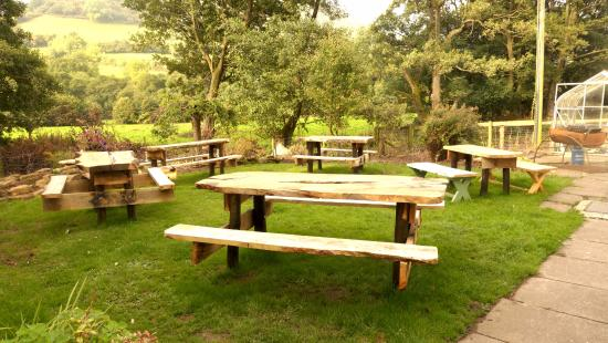 Garden Of The Half Moon Hotel Picture Of Llanthony