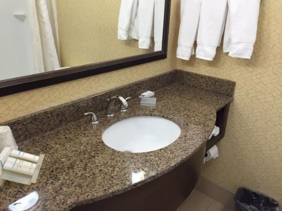 Hilton Garden Inn Tulsa Airport: Bathroom