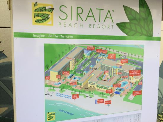 Sirata Beach Resort Property Map
