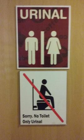 Coffee Cube: Only urinal warn