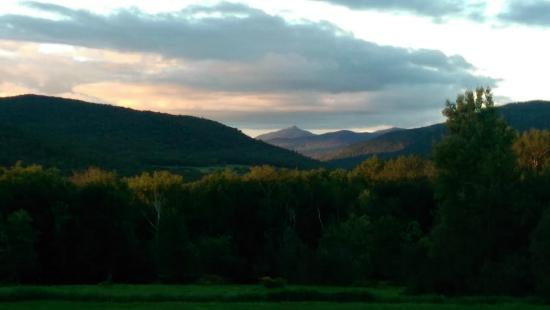 Bristol, VT: view of Camel's Hump mountain from each bedroom