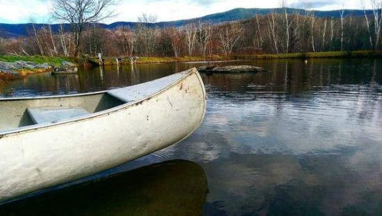 Bristol, VT: View of the pond & mountains