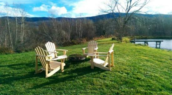 Bristol, VT: Enjoy the view from our Adirondack chairs