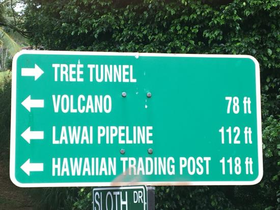 hawaii trading post: Grounds Area Signage