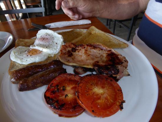 Mangonui, Nya Zeeland: Big breakfast for me.