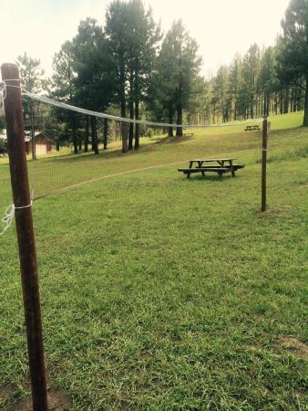 The Greer Peaks Lodge: Badminton Net