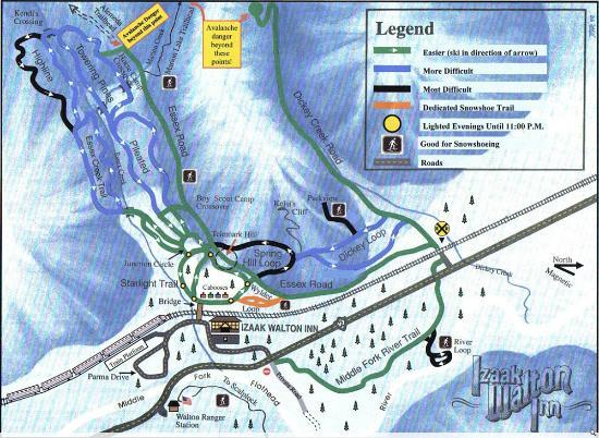 Essex, Montana: Cross country ski trails