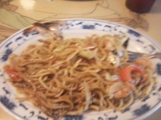 Ginger's Asian Kitchen : Shrimp Yakisoba