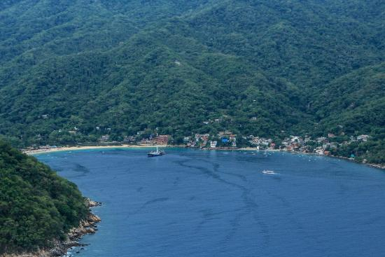 What a view soaring high above Yelapa!