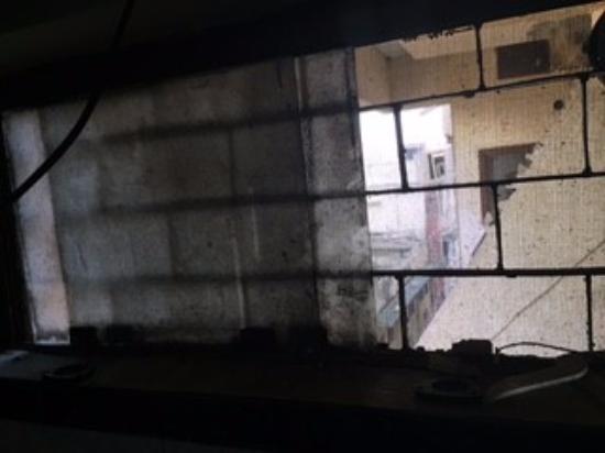 Hotel Suryalok: No wiremesh on windows
