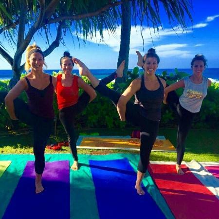 Kauai Yoga On The Beach Poipu Cl With Wonderful Ingrid