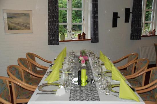 Gjerrild Kro og Hotel: Fin borddækning