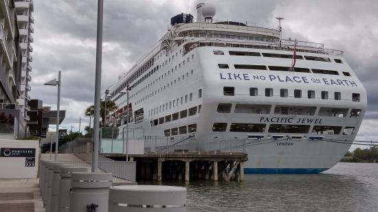 Pacific Jewel In Port At Brisbane Picture Of Portside Cruises - Port side of a cruise ship