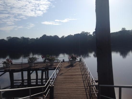 Bergendal Eco & Cultural River Resort: Bij de ingang van het resort, prachitg uitzicht