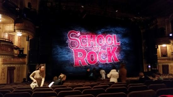 At The Winter Garden Theater Picture Of School Of Rock The Musical