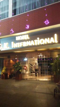 Hotel GK International : Picture of the Front, nicely luminated
