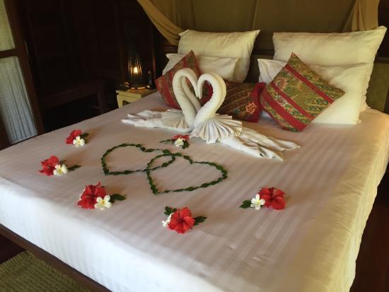 Captivating Zeavola Resort: Honeymoon Bed Setup