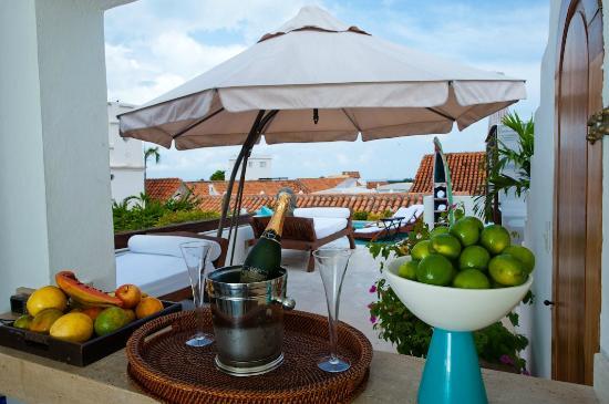Hotel Aguamarina: Terraza