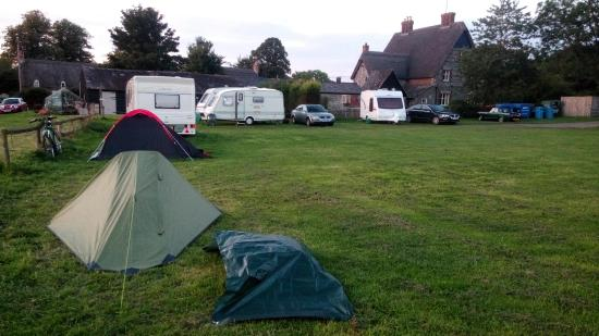 Pewsey, UK: My green solo tent