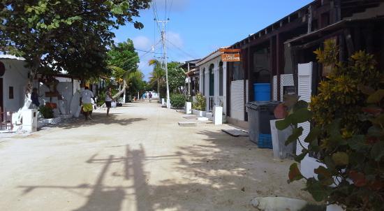 Posada Lagunita: calle del pueblo