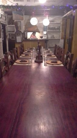 Posada Lagunita: mesa del comedor