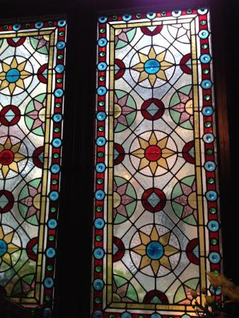 Sonneberg, Jerman: verzierte Fensterscheiben