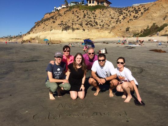 Solana Beach, Californië: Christmas card family photo
