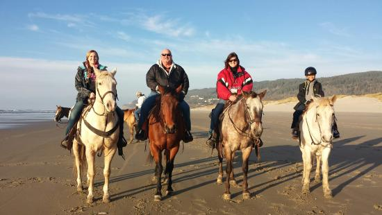 Florence, OR: Left to Right: Me, Dad, Mom, Little Brother