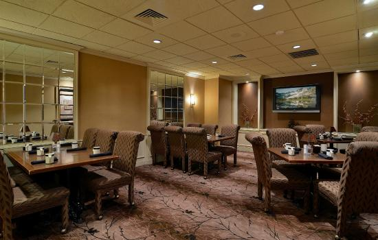 Arthur's Terrace Restaurant: Board Room is the perfect setting for a dinner meeting, featuring French doors to ensure privacy