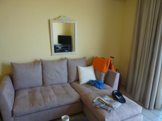 Jason Apartments Hotel : Gedeelte woonkamer