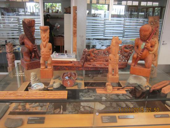 Wood carving picture of new zealand maori arts and