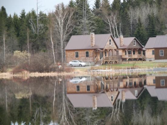 Greenville, ME: View across lake