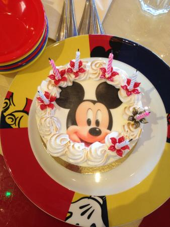 Birthday cake Picture of Cafe Mickey MarnelaVallee TripAdvisor