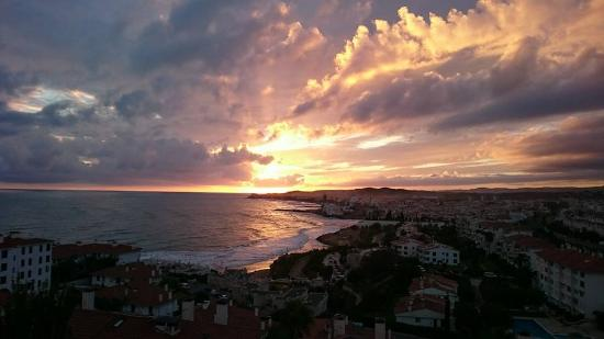 Melia Sitges: In Room dining enjoying the sunset from the balcony