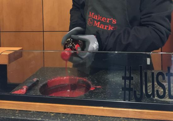 Loretto, KY: Hand dipping my own bottle of Maker's Mark Bourbon